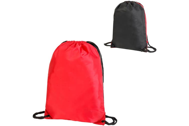 Shugon Stafford Contrast Drawstring Bag (Red/Black) (One Size)