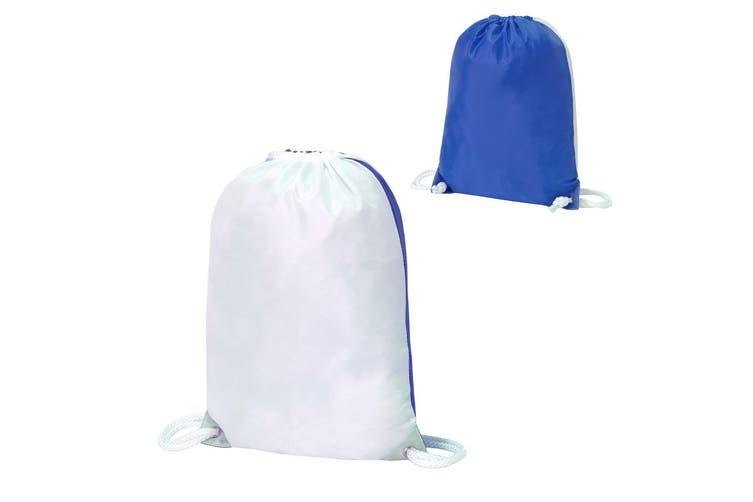 Shugon Stafford Contrast Drawstring Bag (White/Royal) (One Size)