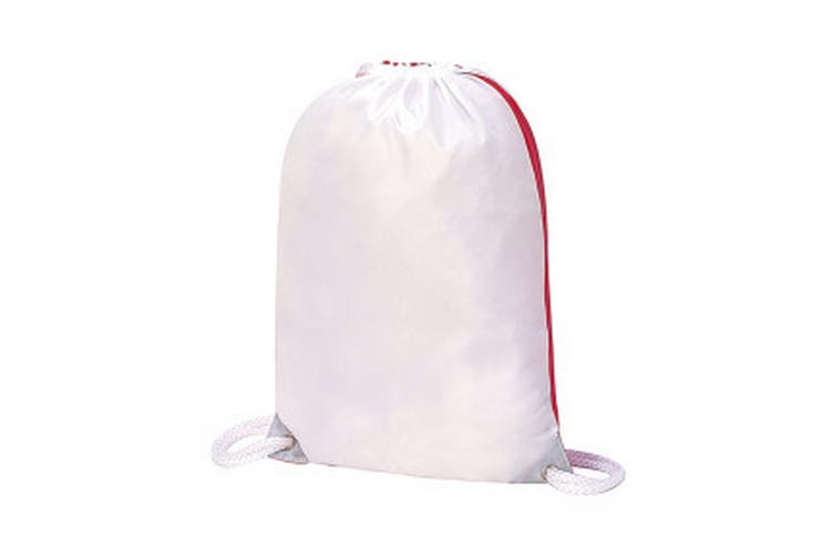 Shugon Stafford Contrast Drawstring Bag (White/Red) (One Size)