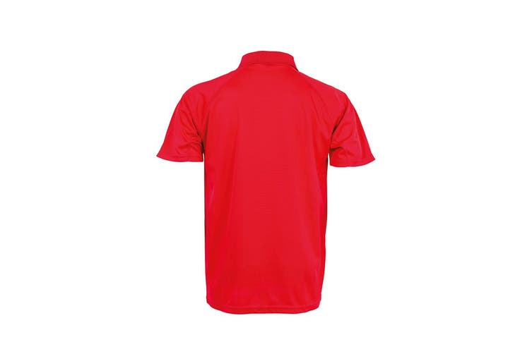 Spiro Impact Mens Performance Aircool Polo T-Shirt (Red) (XS)