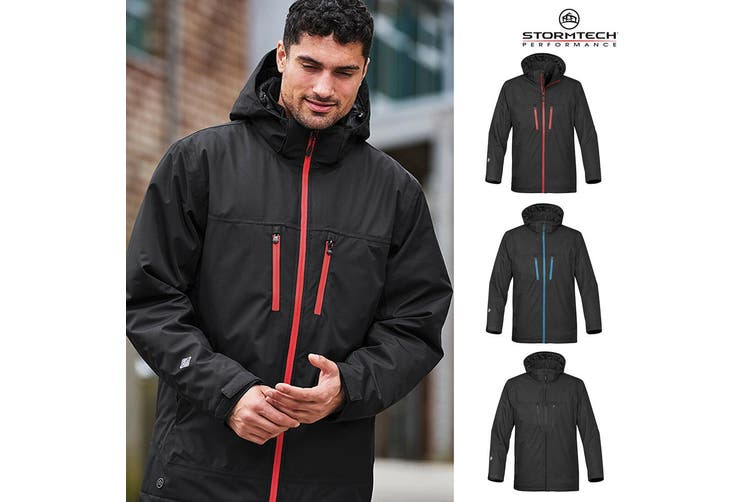 Stormtech Mens Matrix System Jacket (Black/Bright Red) (M)