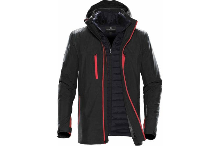 Stormtech Mens Matrix System Jacket (Black/Bright Red) (2XL)