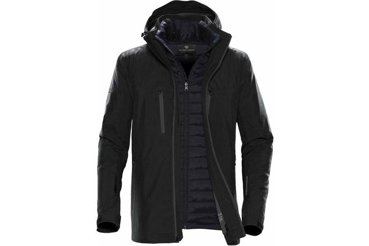 Stormtech Mens Matrix System Jacket (Black/Carbon) (2XL)
