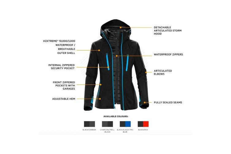 Stormtech Mens Matrix System Jacket (Black/Electric Blue) (2XL)