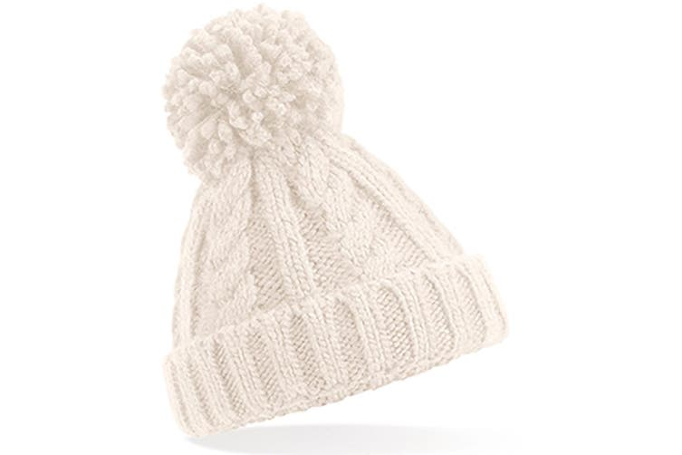 Beechfield Childrens/Kids Cable Knit Melange Beanie (Oatmeal) (One Size)