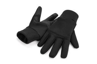 Beechfield Unisex Adults Softshell Sports Tech Gloves (Black) (L/XL)