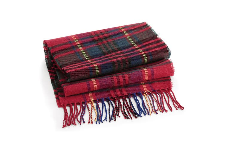 Beechfield Unisex Classic Check Scarf (Red Check) (One Size)