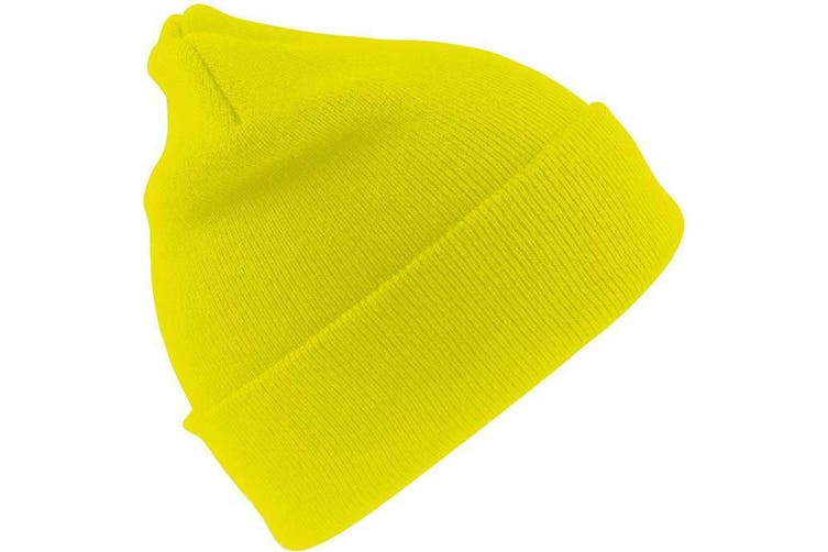 Result Unisex Lightweight Thermal Winter Thinsulate Hat (3M 40g) (Pack of 2) (Fluoresent Yellow) (One Size)