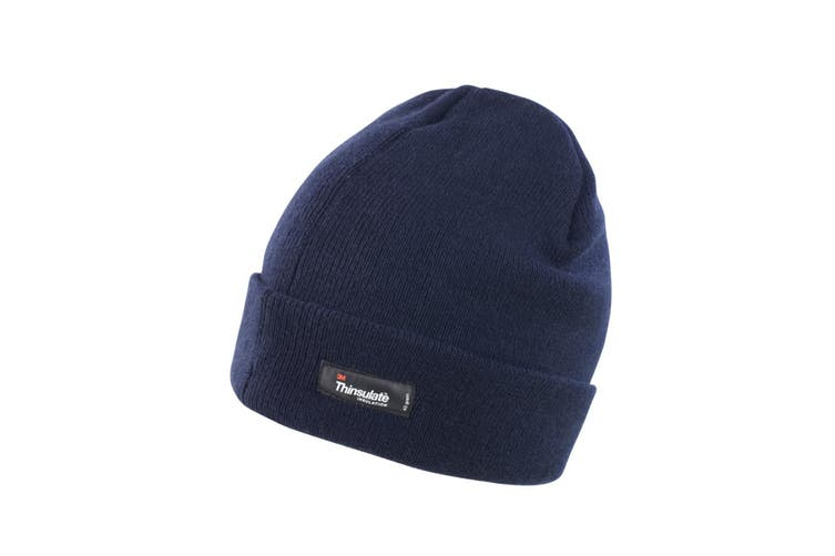 Result Unisex Lightweight Thermal Winter Thinsulate Hat (3M 40g) (Pack of 2) (Navy Blue) (One Size)