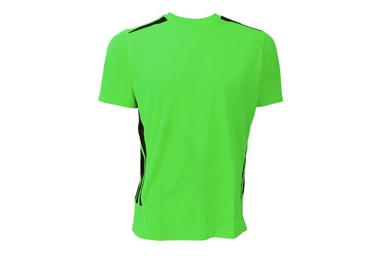 Gamegear® Mens Cooltex Short Sleeve Training T-Shirt (Fluorescent Lime/Black) (XL)