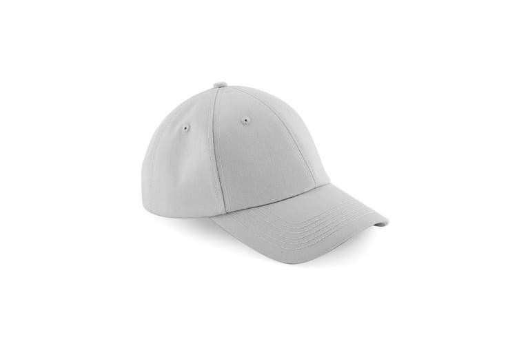 Beechfield Unisex Authentic 6 Panel Baseball Cap (Pack of 2) (Light Grey) (One Size)