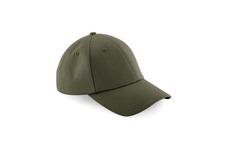 Beechfield Unisex Authentic 6 Panel Baseball Cap (Pack of 2) (Military Green) (One Size)