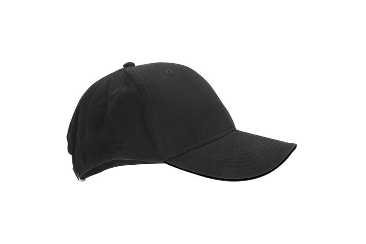Beechfield Adults Unisex Athleisure Cotton Baseball Cap (Pack of 2) (Graphite Grey/Black) (One Size)