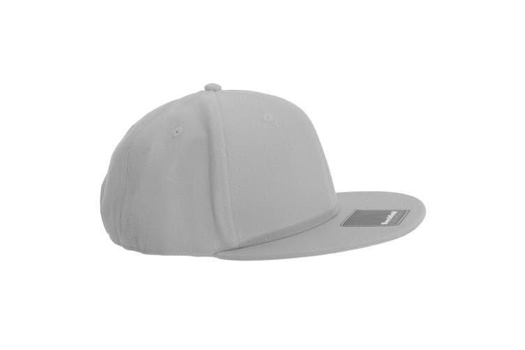 Beechfield Adults Unisex Signature 6 Panel Snapback Cap (Pack of 2) (Light Grey) (One Size)