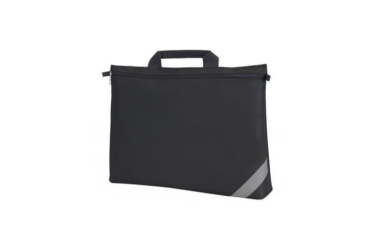 Shugon Oxford Classic Portfolio Book Bag (Pack of 2) (Black) (One Size)