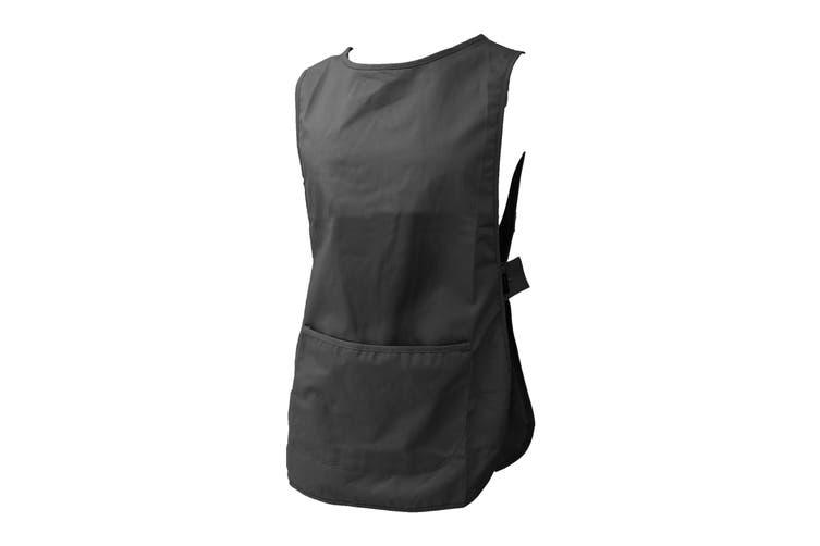Dennys Womens/Ladies Workwear Tabard (Pack of 2) (Black) (S)