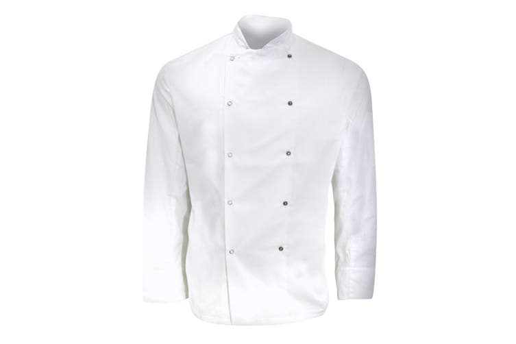 Dennys Mens Long Sleeve Chefs Jacket / Chefswear (Pack of 2) (White) (2XL)