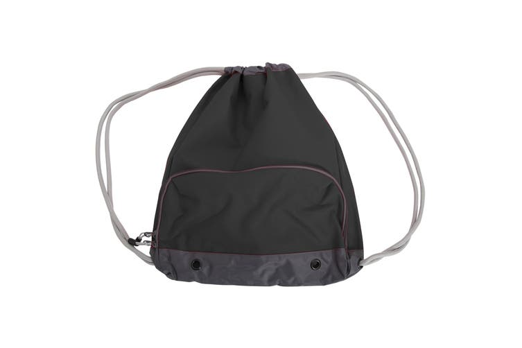 Bagbase Athleisure Water Resistant Drawstring Sports Gymsac Bag (Pack of 2) (Black) (One Size)