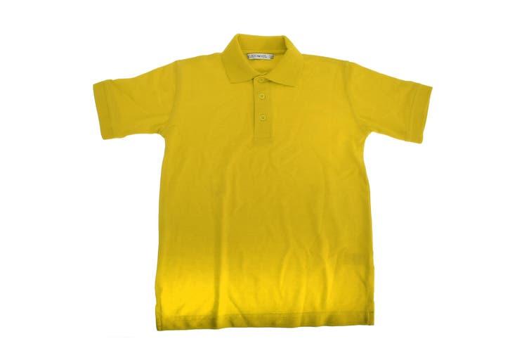 Kustom Kit Klassic Childrens Superwash 60 Polo Shirt (Pack of 2) (Canary) (7-8)