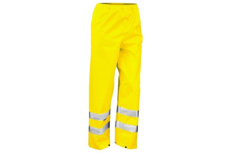 Result Mens Hi-Vis Trousers / Pants (Pack of 2) (Hi-Vis Yellow) (2XL)