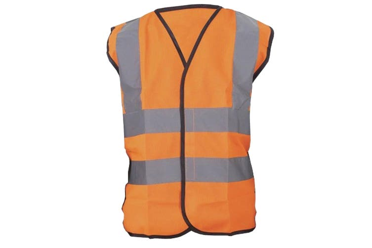 Yoko Hi-Vis Childrens Unisex Waistcoat / Jacket (Pack of 2) (Hi Vis Orange) (7-9)