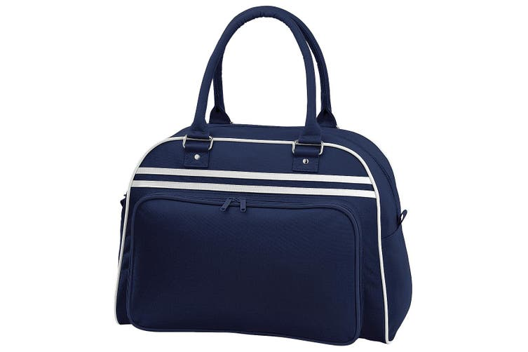 Bagbase Retro Bowling Bag (23 Litres) (Pack of 2) (French Navy/White) (One Size)