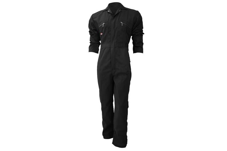 Dickies Redhawk Zip Front Coverall Regular / Mens Workwear (Pack of 2) (Black) (40inch)