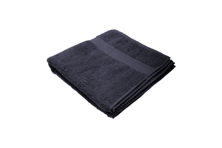 Jassz Premium Heavyweight Plain Bath Towel 70cm x 140cm (550 GSM) (Pack of 2) (Navy Blue) (One Size)