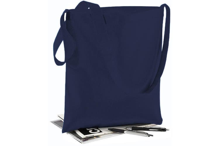 Westford Mill Sling Tote Bag - 8 Litres (Pack of 2) (French Navy) (One Size)