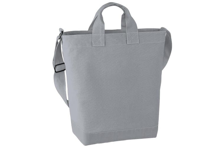 Bagbase Canvas Daybag / Hold & Strap Shopping Bag (15 Litres) (Pack of 2) (Light Grey) (One Size)