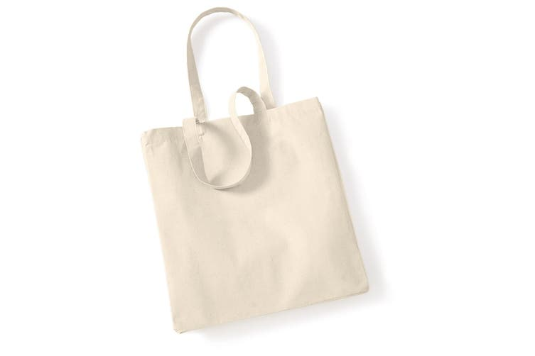 Westford Mill Canvas Classic Shopper Bag - 26 Litres (Pack of 2) (Natural) (One Size)