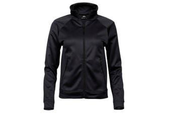 Tee Jays Womens/Ladies Performance Zip Sweat Jacket (Black) (2XL)