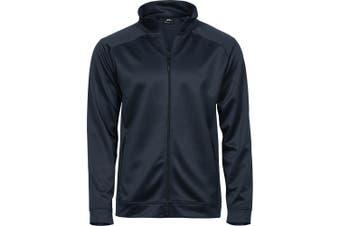 Tee Jays Mens Performance Zip Sweat Jacket (Deep Navy) (L)