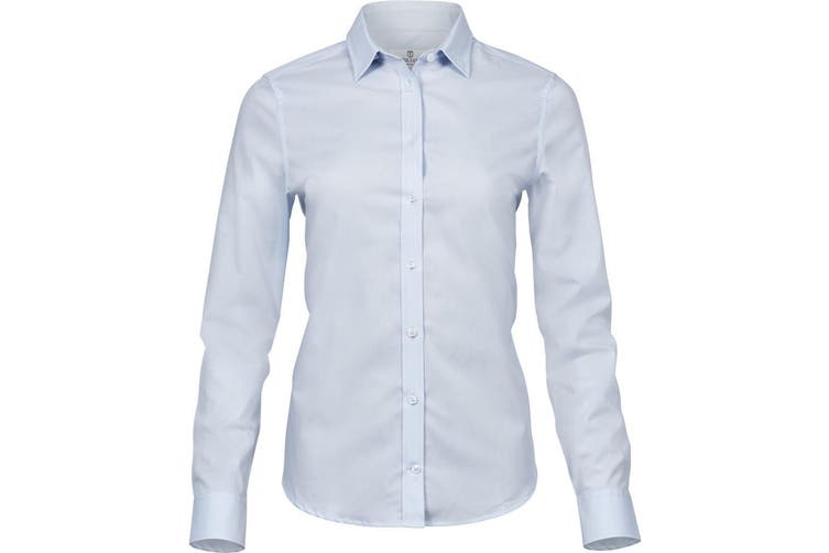 Tee Jays Womens/Ladies Luxury Stretch Shirt (Light Blue) (3XL)