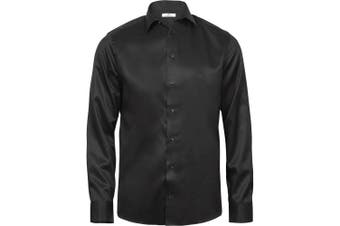 Tee Jays Mens Luxury Comfort Fit Shirt (Black) (XL)