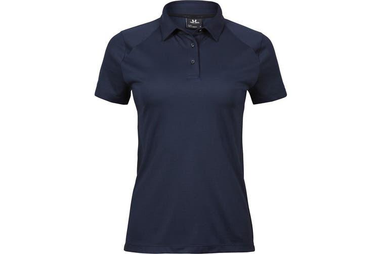 Tee Jays Womens/Ladies Luxury Sport Polo Shirt (Navy Blue) (XL)