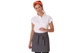 Dennys Unisex Adults Denim Waist Apron With Pocket (Black) (One Size)
