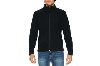 Gildan Adults Unisex Hammer Micro-Fleece Jacket (Black) (S)