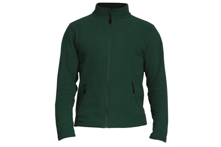 Gildan Adults Unisex Hammer Micro-Fleece Jacket (Forest Green) (L)