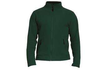 Gildan Adults Unisex Hammer Micro-Fleece Jacket (Forest Green) (XL)