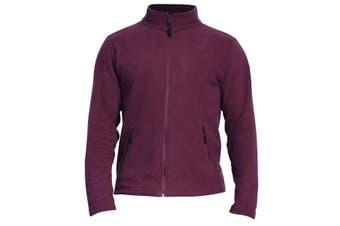 Gildan Adults Unisex Hammer Micro-Fleece Jacket (Maroon) (M)