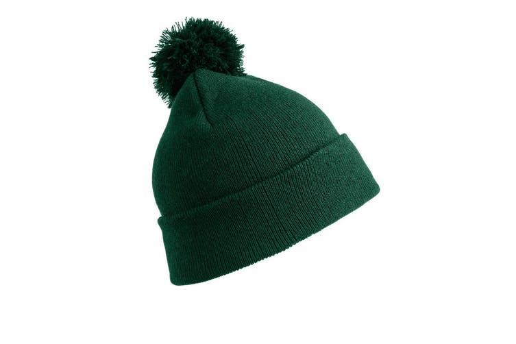 Result Womens/Ladies Winter Essentials Pom Pom Beanie (Bottle Green) (One Size)