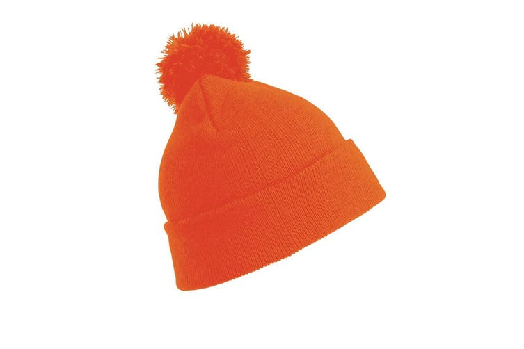 Result Womens/Ladies Winter Essentials Pom Pom Beanie (Fluoresent Orange) (One Size)