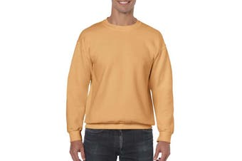Gildan Heavy Blend Unisex Adult Crewneck Sweatshirt (Old Gold) (XL)