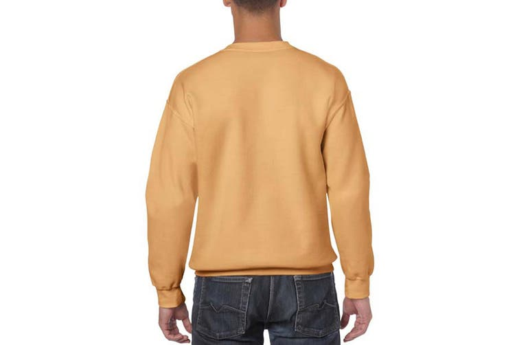 Gildan Heavy Blend Unisex Adult Crewneck Sweatshirt (Old Gold) (4XL)
