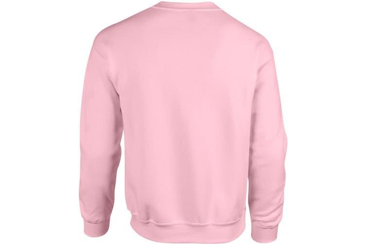 Gildan Heavy Blend Unisex Adult Crewneck Sweatshirt (Light Pink) (XL)