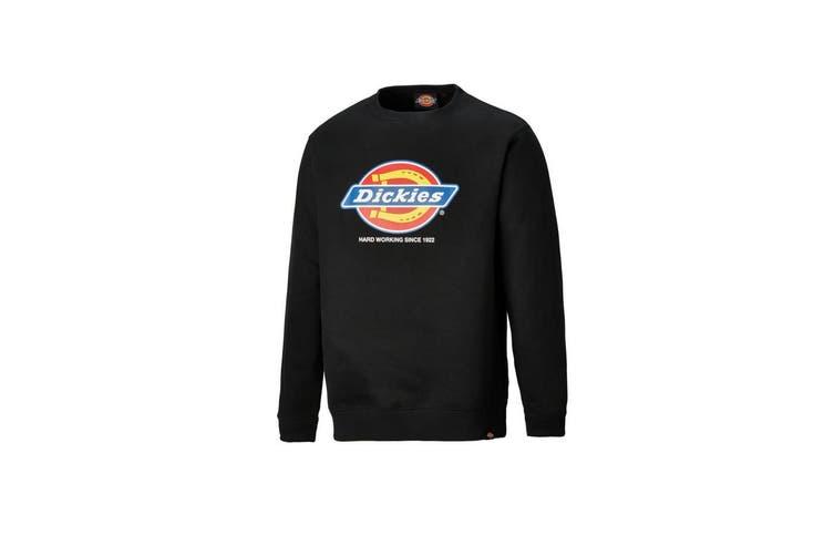 Dickies Adults Unisex Longton Branded Sweatshirt (Black) (M)
