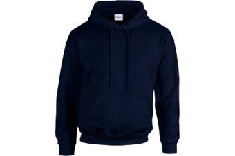 Gildan Heavy Blend Adult Unisex Hooded Sweatshirt / Hoodie (Navy) (L)