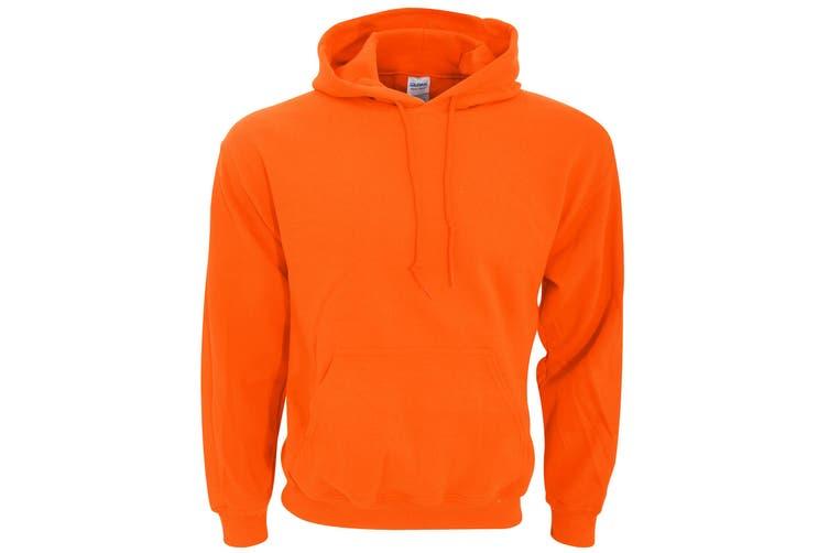 Gildan Heavy Blend Adult Unisex Hooded Sweatshirt / Hoodie (Orange) (L)