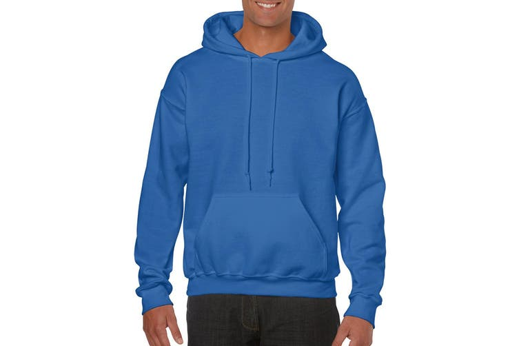 Gildan Heavy Blend Adult Unisex Hooded Sweatshirt / Hoodie (Royal) (S)
